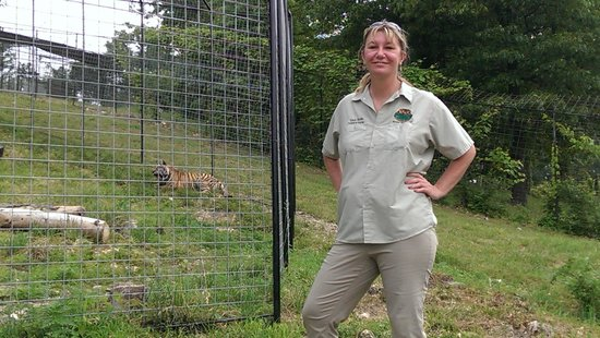 Turpentine Creek Wildlife Refuge: Tanya Smith with Ava just after she was released into new habitat