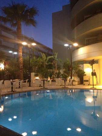 Aquila Porto Rethymno : Pool Area at night