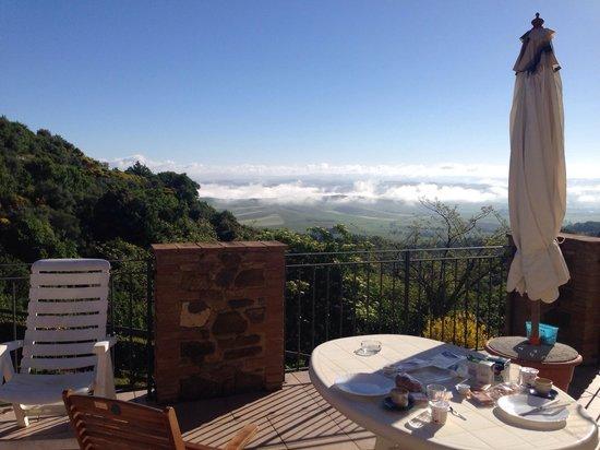 La Casella: Udsigten fra terrassen