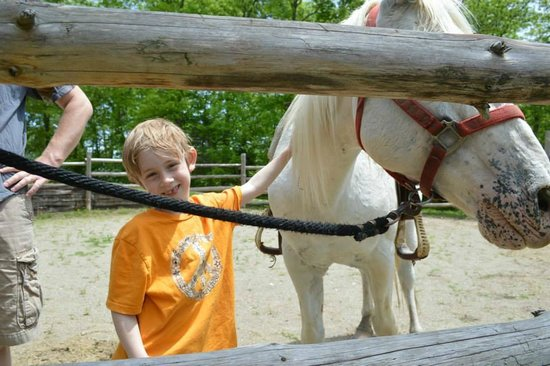 """Rawhide Ranch: Son with his horse for """"pony"""" ride"""