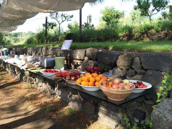 Monaci delle Terre Nere : Breakfast on the terrace