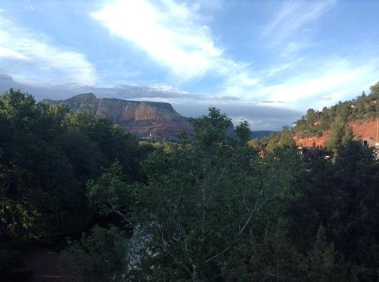 The Inn Above Oak Creek: view from my balcony, room 11