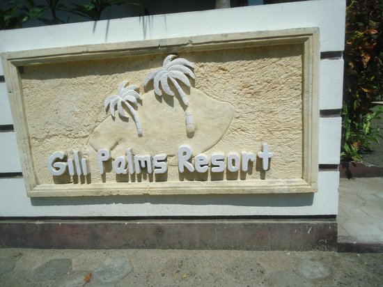 Gili Palms Resort : Placard