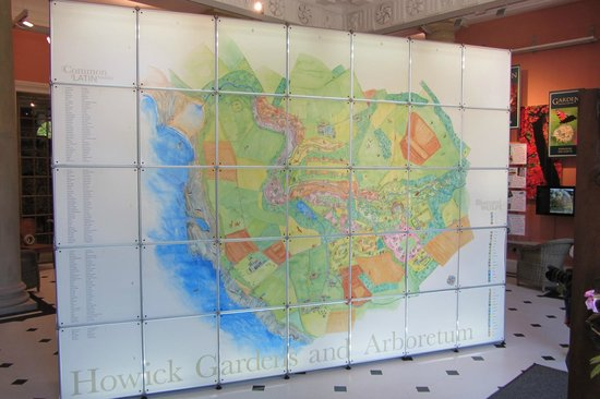 Howick Hall Gardens: A giant map of the extensive grounds