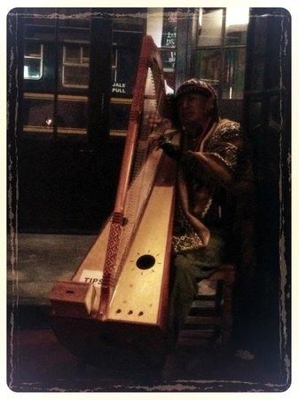 El Albergue Ollantaytambo: dining room musician