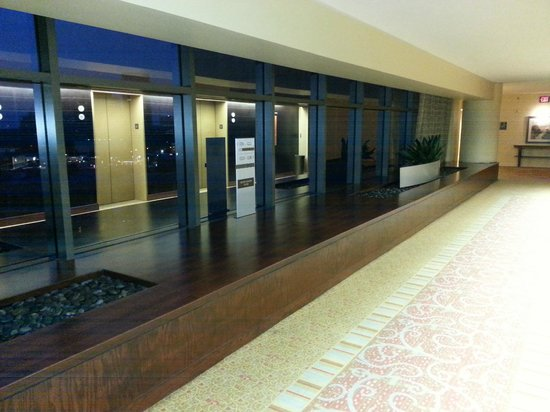 Hilton Houston Post Oak: Elevator bank