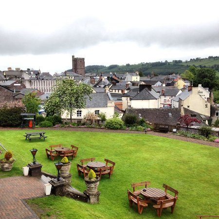 Castle of Brecon: View from room 35