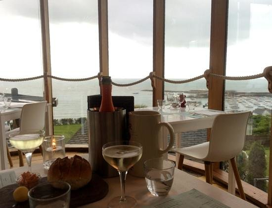 Hix Oyster & Fish House : even on a grey rainy evening the view is fantastic
