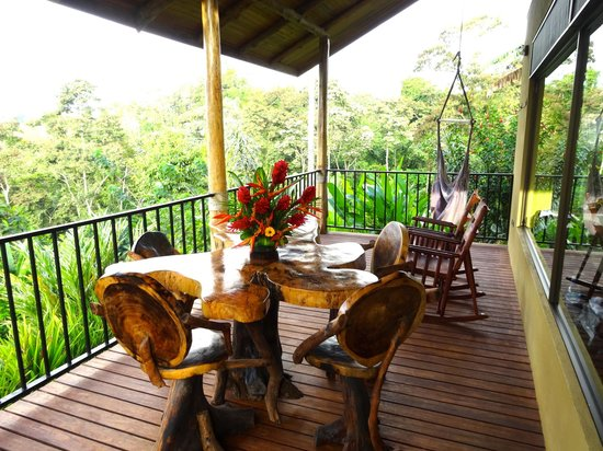 Leaves and Lizards Arenal Volcano Cabin Retreat: Porch of Congo Cabin
