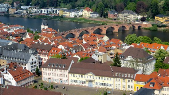 Carl Theodor Old Bridge (Alte Brucke): Puente visto desde el Castillo