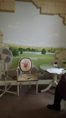 Stapleford Park: QUIRKY HAND PAINTED WALL FEATURE