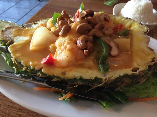Surin West: Shrimp pineapple boat