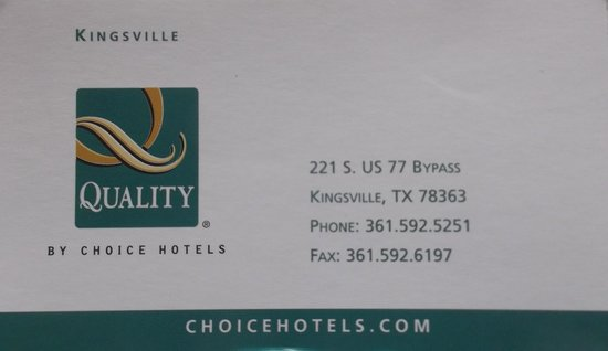 Econo Lodge: Carte d'affaire / Business card.