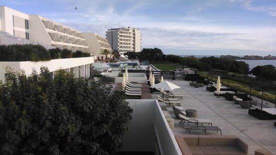 Valamar Dubrovnik President Hotel : area externa vista da varanda do apto
