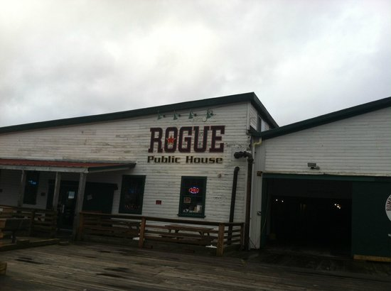 Rogue Ales Public House: On the docks in the old Bumblebee cannery.