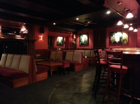 Faces and Names: Seating area behind the bar
