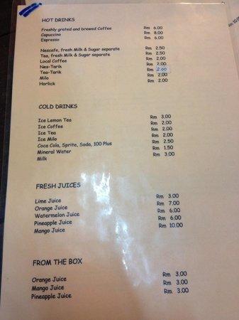 Andaman Langkawi Food Prices