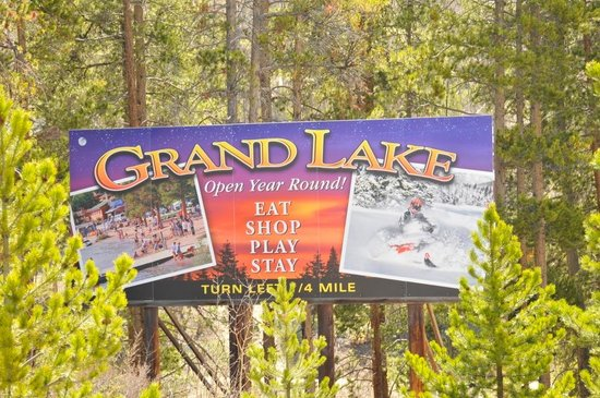 Western Riviera Lakeside Lodging & Events: Grand Lake Billboard