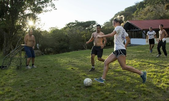 Ecolodge San Luis: Play soccer