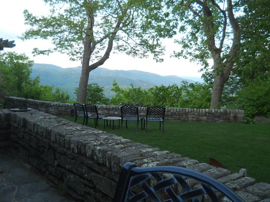 The Restaurant at Gideon Ridge: Her view at dinner