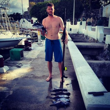 Spearfishing Today: Cleaned up the Trigger fish this day