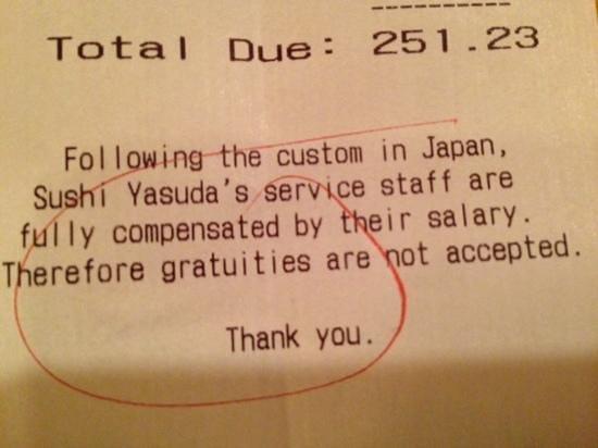 Sushi Yasuda: wow!