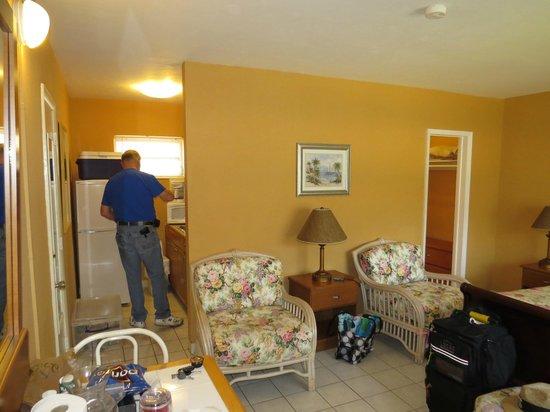 Ebb Tide Oceanfront Resort in Pompano Beach, Florida: View looking toward kitchen