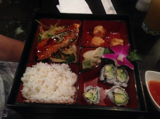 "Kumo's Japanese Steakhouse and Sushi: Combination ""Box"" really cool"