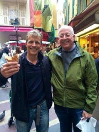 A Taste of Nice Food Tours: Gustav and ice cream treat