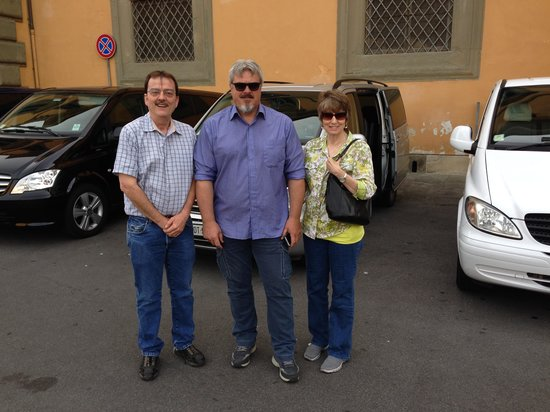"""Rome Driving Tours: Francesco """"The Big"""" as our tour guide in Pisa and Florence"""