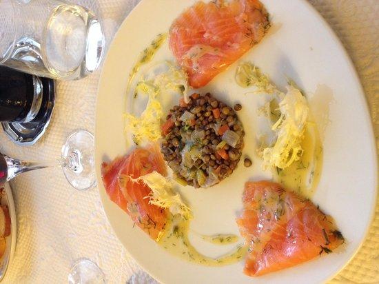 La Fourchette: Lentil appetizer