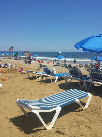 Ocean Place Resort & Spa: Lounge chairs on the private beach