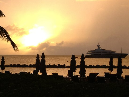Four Seasons Resort Nevis, West Indies: a typical sunset at Four Seasons Nevis