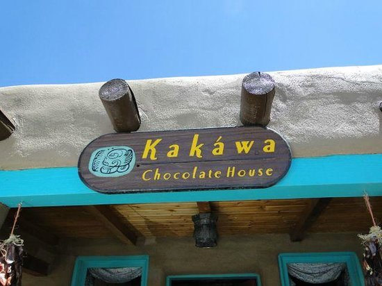 Kakawa Chocolate House: The sign to look for outside.