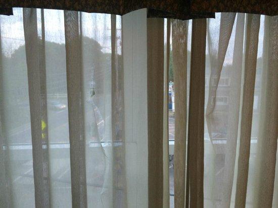 Hyannis Harbor Hotel : Torn sheer blinds