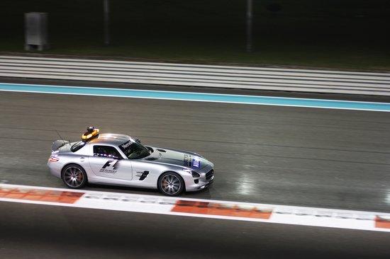 Mercedes SLS AMG Safety Car at the Yas Marina Circuit