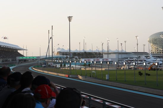 Yas Marina Circuit: A view of the circuit from the South Grandstand