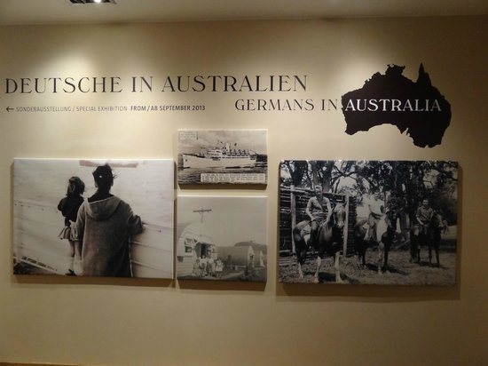 Deutsches Auswandererhaus: The temporary display about immigration by Germans 'Down Under'.