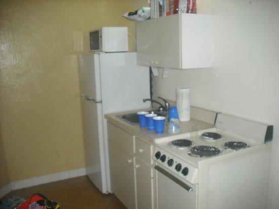 Grand Prix Motel: the kitchen