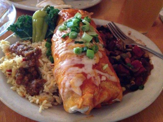 Moab Brewery: Huge veggie burrito
