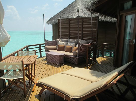 Baros Maldives: Water villa balcony