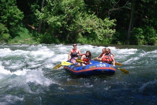 High Mountain Expeditions: The first big rapid... My son ducked but loved every second!