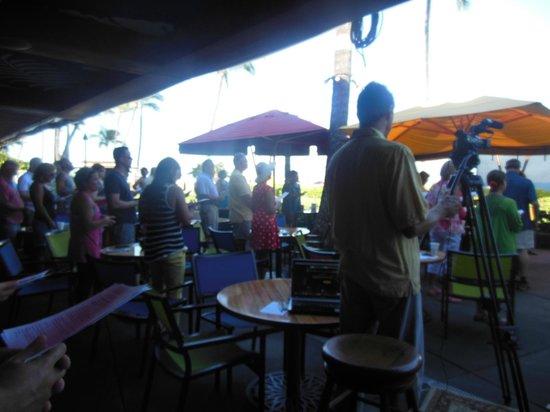 Marriott's Maui Ocean Club  - Lahaina & Napili Towers: Sunday morning service  at hotel next door
