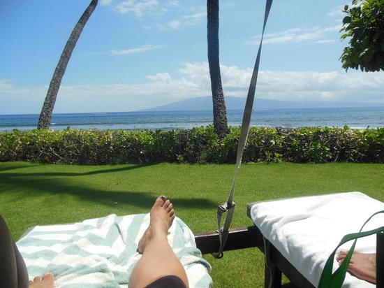 Marriott's Maui Ocean Club  - Lahaina & Napili Towers : From our rented Cabana