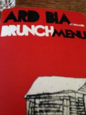 Ard Bia at Nimmo's: Menu