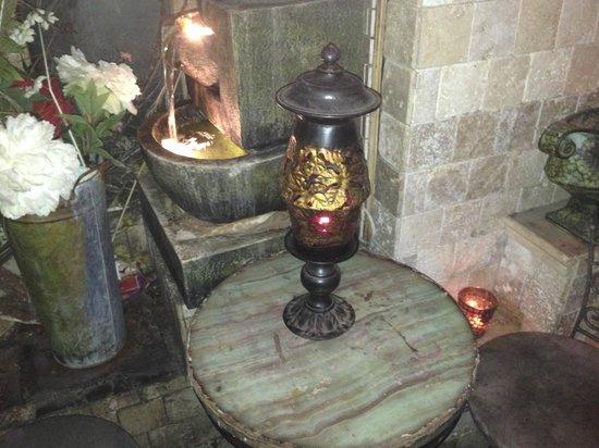 Da Marino Restaurant: Antique Lamp  in women's restroom