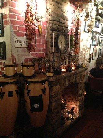 Da Marino Restaurant: Old Brick fireplace