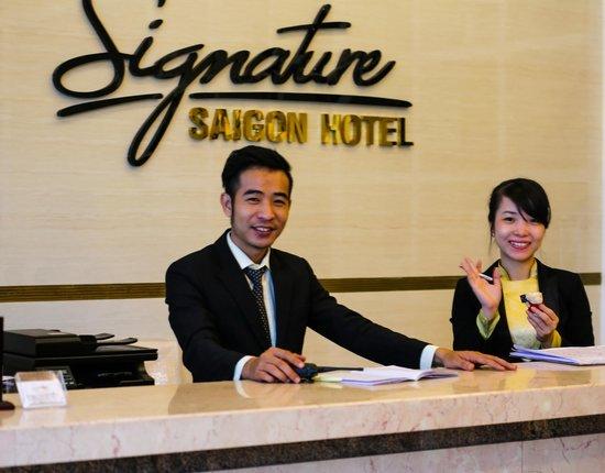 Receptionist at Signature Saigon Hotel