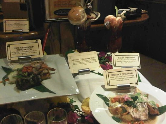 Fish Hopper Seafood and Steaks : Displays of specials of the night!