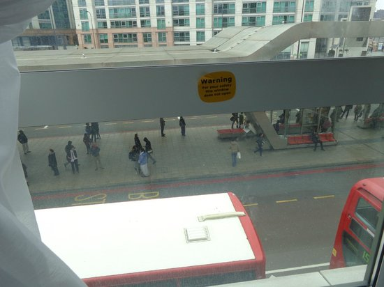 Travelodge London Vauxhall Hotel: View from our window.